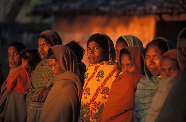 Women in morning, Orissa, India. (Public Domain)
