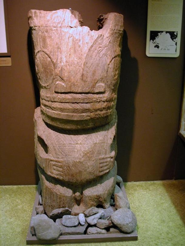 Wooden carving from Mangareva