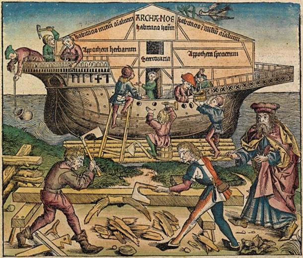 Woodworkers building Noah's Ark. (Ras67 / Public Domain)