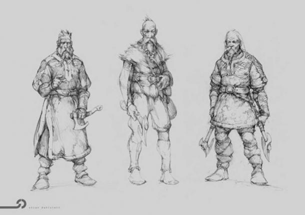 Would you have dared to offend one of these Vikings? (Illustration by: Stian Dahlslett ©)