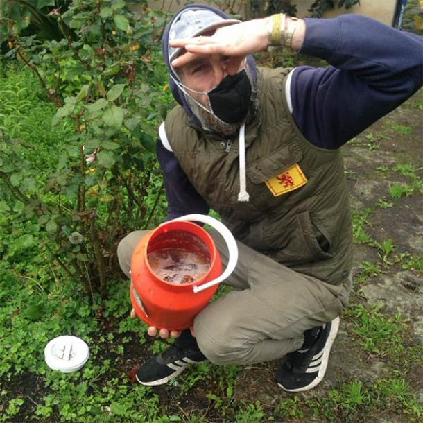 Writer, Ashley Cowie and his plant boosting banana soup. (Courtesy Ashley Cowie)