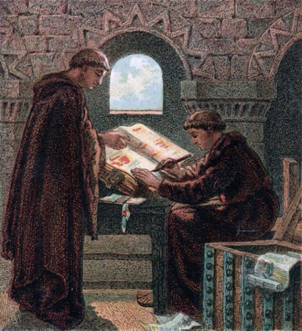 'Writing the Domesday Book' (1868) by Joseph Martin Kronheim. (Public Domain)