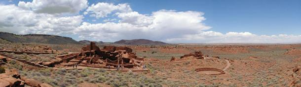 A panorama of the Wupatki ruins.