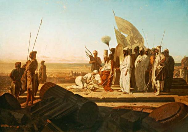 Xerxes at the Hellespont. (Public Domain)