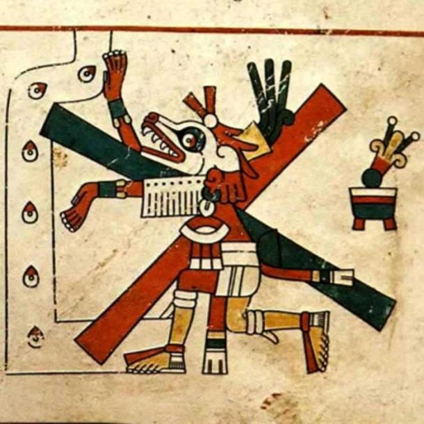 Xolotl, as originally published in the Codex Fejervary-Mayer, 15th century, author unknown. (Public Domain)