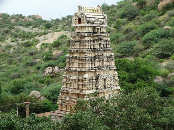 Yaganti Temple is a holy site in India. (Mranaroy / CC BY-SA 4.0)