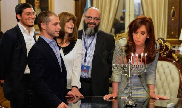 Yair Tawil, the seventh son, becomes the godson of Argentinian president Christina Fernandez de Kirchner
