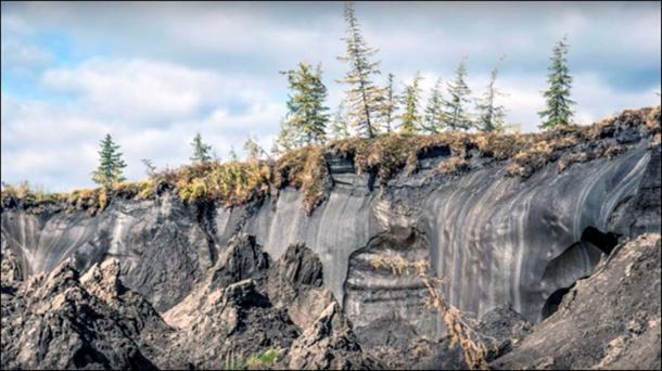 Yana site destroyed by mammoth tusk hunters and climate change. Picture: Andrey Shubenki