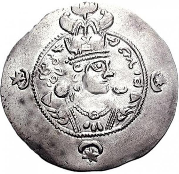 Coin of a young Yazdegerd III.