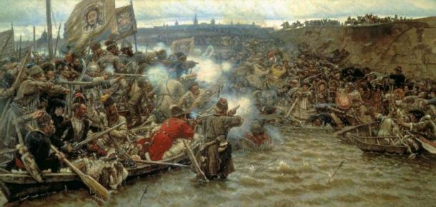 Yermak's Conquest of Siberia, a painting by Vasily Surikov