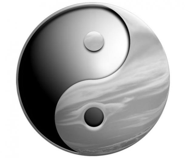 The Yin Yang symbol.