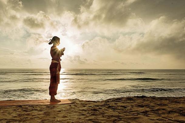 Yoga Namaste Practice, India. (CC BY 2.0)