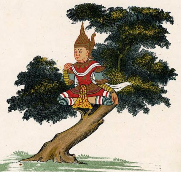 Yokkaso (guardian spirits of the trees) in Burmese representation