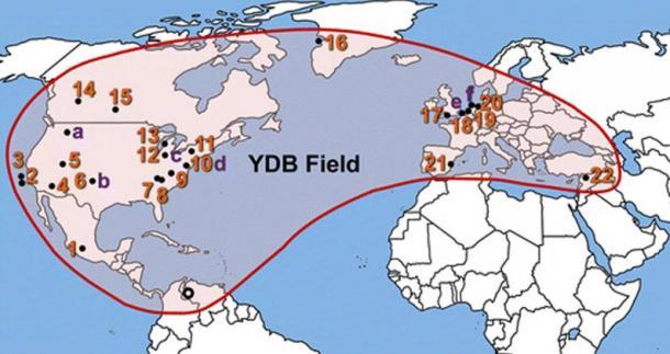 The Younger Dryas boundary (YDB) nanodiamond field.