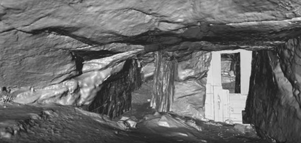 Youtube Screenshot of the 3D animation of Sculptor's Cave