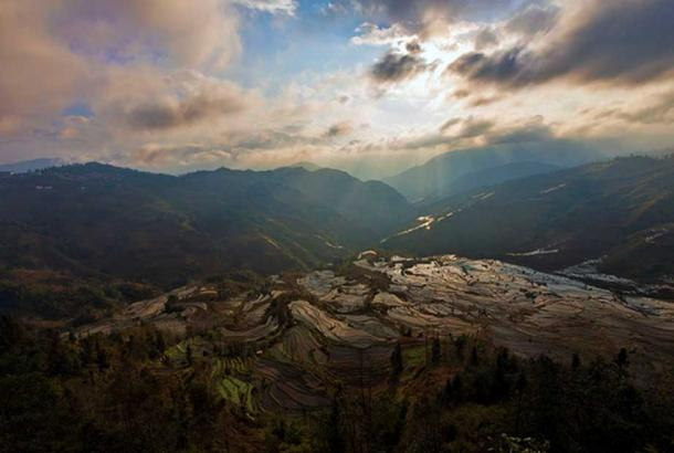 Yuanyang rice terrace, Laohuzhui. Representative image. (chensiyuan/CC BY-SA 3.0)