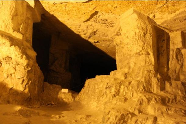 Entrance to Zedekiah's Cave, Jerusalem Israel
