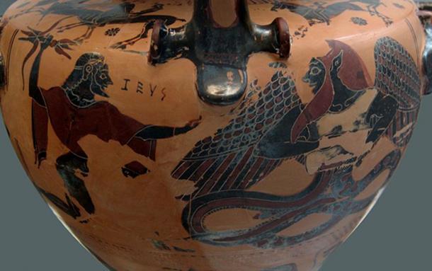 Combat between Zeus and Typhon