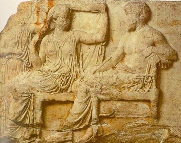 Zeus and Hera from the east frieze of the Parthenon, 430 BC. (Public domain)