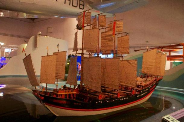 Zheng He's Treasure Ship. Model at Hong Kong Science Museum