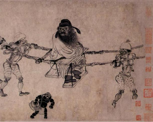 Zhong Kui, the being that banished ghosts and evil entities in ancient China