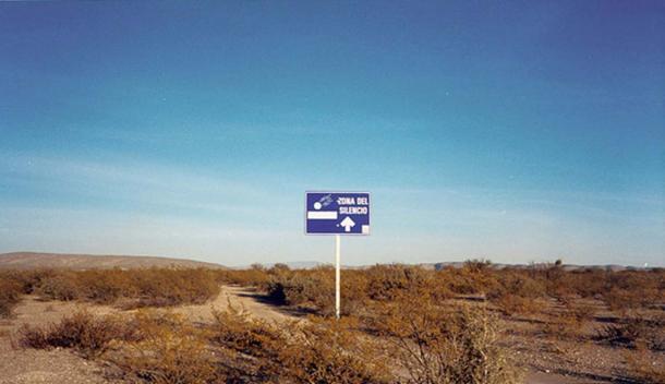Zona del Silencio (Zone of Silence) landscape in Mexico.