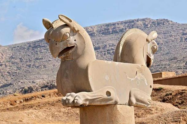 Zoomorphic griffin capital at Persepolis.
