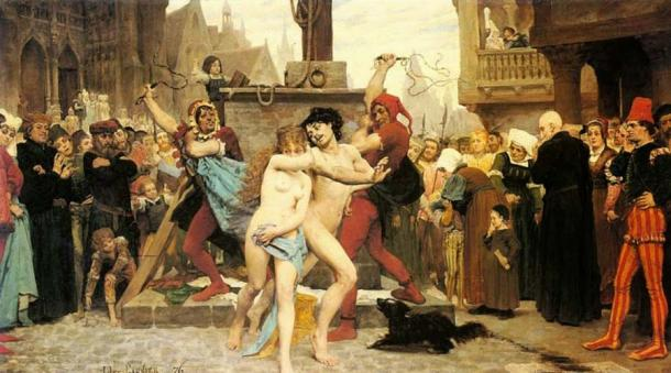 """Medieval sex was a far more """"public"""" affair, with the community and the church claiming jurisdiction over intimate aspects of relationships and marriage. (Public domain)"""