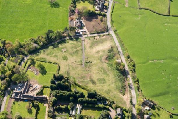 After the Mac family had damaged the medieval village site in Withybrook, Warwickshire. The substantial work completed can be seen, e.g. creation of large track. (Historic England)