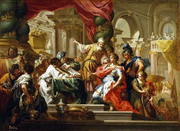 Alexander the Great in the Temple of Jerusalem by Sebastiano Conca (1736) Museo del Prado (Public Domain)