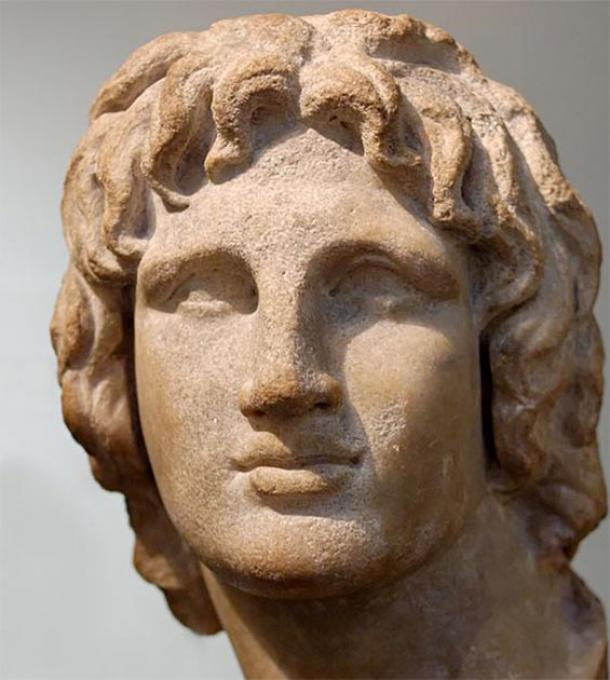 Portrait of Alexander the Great. Marble, Hellenistic artwork, 2nd-1st century BC. Said to be from Alexandria, Egypt. (Public Domain)
