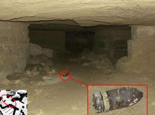 When the Germans left, many of their ammunitions remained. Labyrinth Cave, Crete.