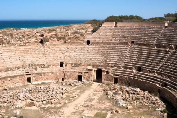 Lepcis Magna's famous amphitheatre.