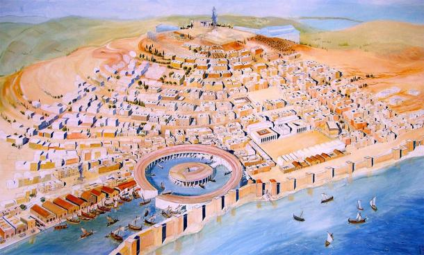 Depiction of ancient Carthage from the Carthage Museum. (damian entwistle / CC BY-SA 2.0)