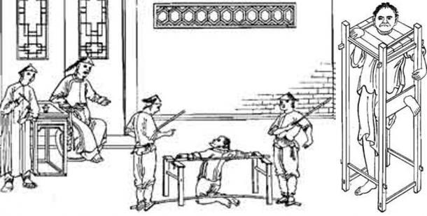 A couple forms of the harsh punishment used in Legalism in ancient China.