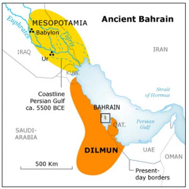 Map of ancient Dilmun