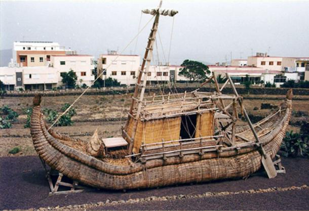 Figure 8. Norwegian explorer-author Thor Heyerdahl's 'Ra II', reconstructed from ancient Egyptian drawings and models.