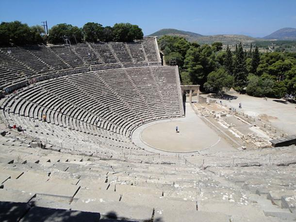 The ancient Greek theater at Epidauros.
