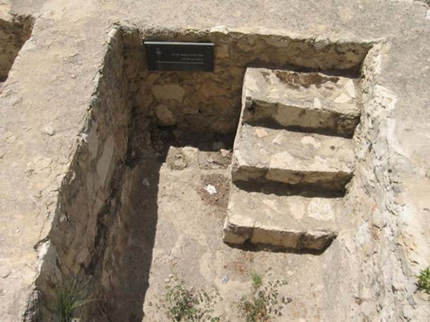 An ancient Israelite immersion pool, mikvah