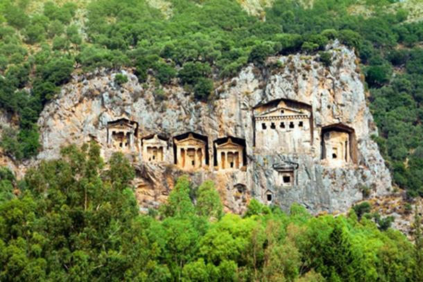 The ancient Lycians and their spectacular rock-cut tombs