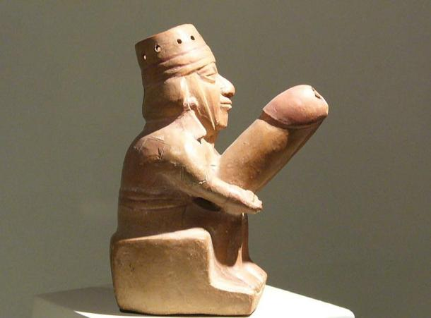 An ancient Peruvian phallus of the pre-Columbian Wari culture
