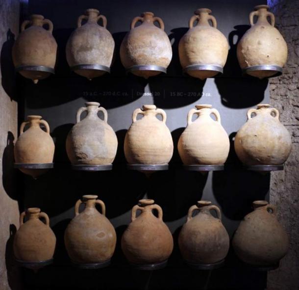 A file photo of ancient Roman amphoras.
