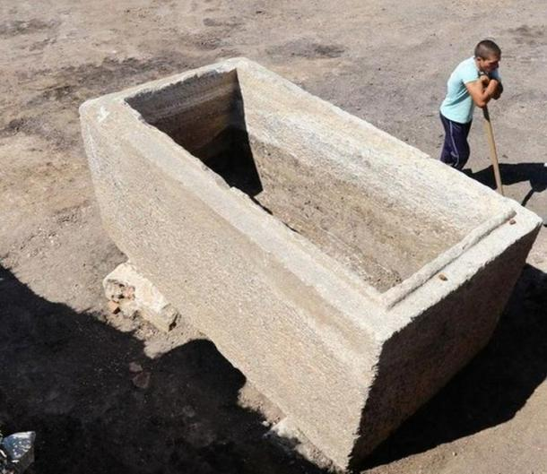 The ancient Thracian marble sarcophagus once housed a coffin and a body, as well as numerous artifacts. It's thought to date to the third century AD.