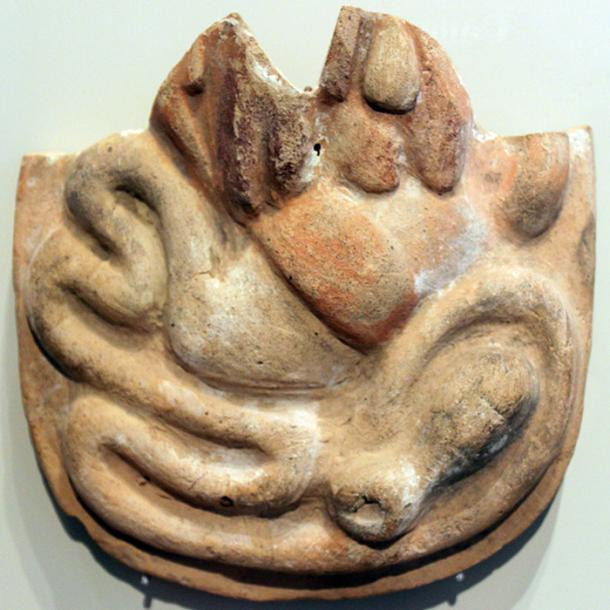 An ancient anatomical votive from the 4th century BC in central Italy depicting the intestines. It may have been used to invoke the gods to heal or cure a gastrointestinal disease of the supplicant.