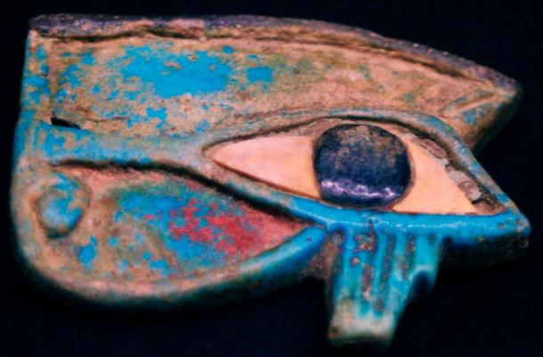 An ancient carving of the Eye of Horus