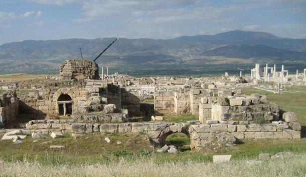 An ancient church at Laodicea; John the Revelator, author of the last book of the Christian Bible, wrote a letter to the church in Laodicea that is part of the book of Revelation.