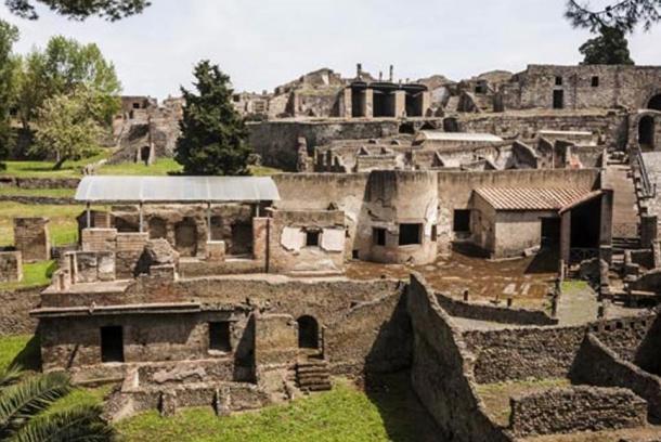 The ancient city of Pompeii, Italy.