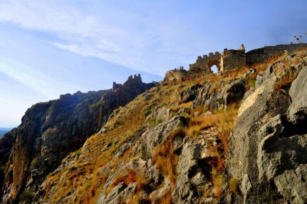 The ancient fortress at Anazarbus or Anavarza, which may date back to Assyrians building in the seventh century BC.