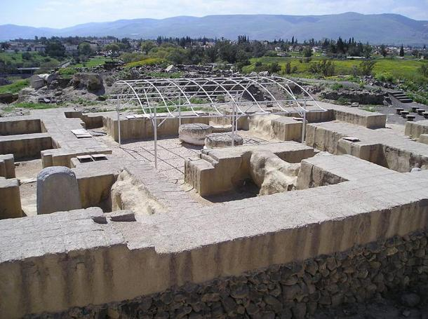 An ancient house of and Egyptian governor at Beit She'an.
