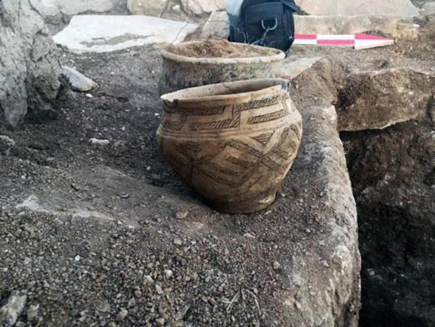 Archaeologists found ancient pottery near the mausoleum, which they are studying to help determine its age.
